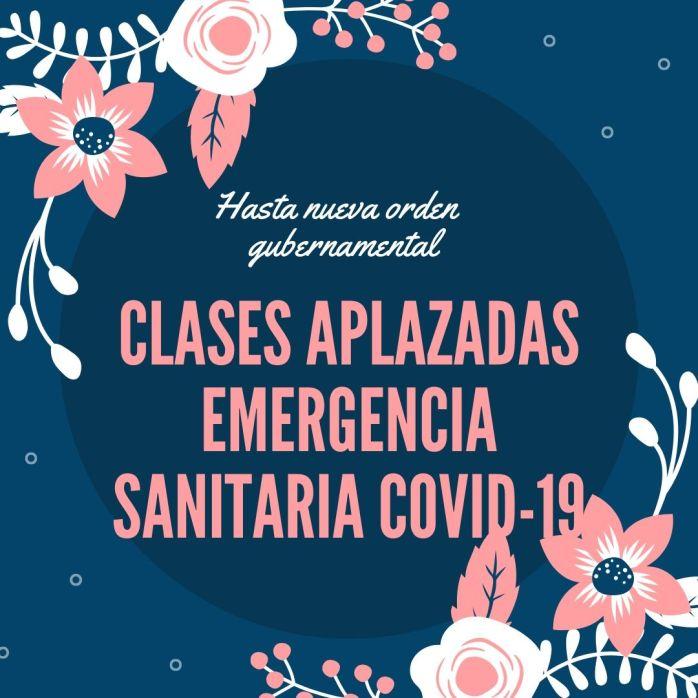 clases aplazadas emergencia sanitaria covid-19